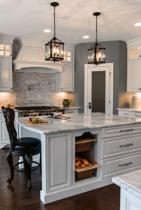 Image Result For Brick Veneer Backsplash Home Kitchens Kitchen