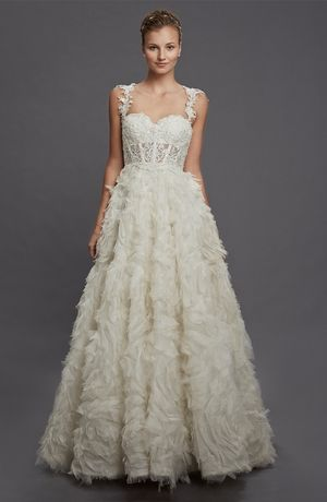 Sweetheart A-Line Wedding Dress with Natural Waist in Organza ...