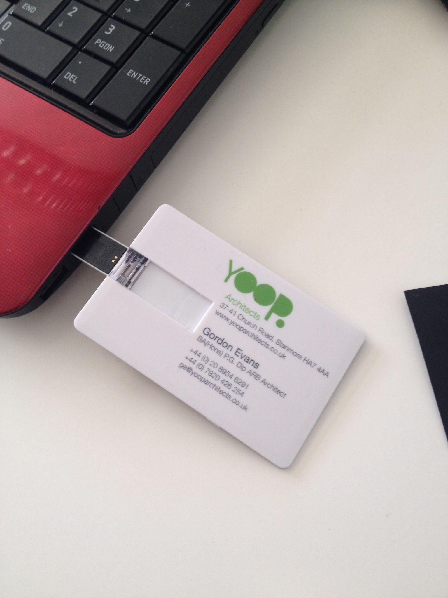 Usb Business Card 2gig Yoop Architects 07920426254 Perfect For