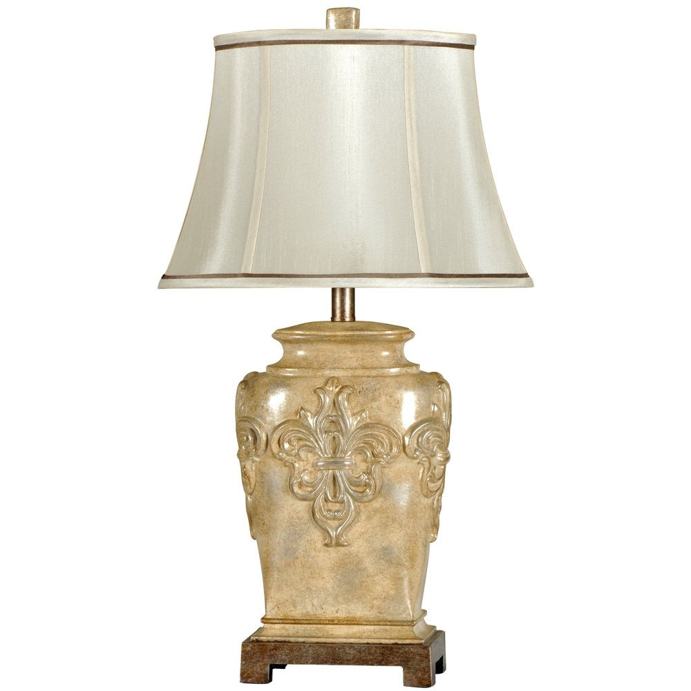 Traditional Fleur de Lis Table Lamp