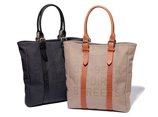 Some kind of tote bag for classes, books, etc. This is a new canvas/leather tote from Swagger.