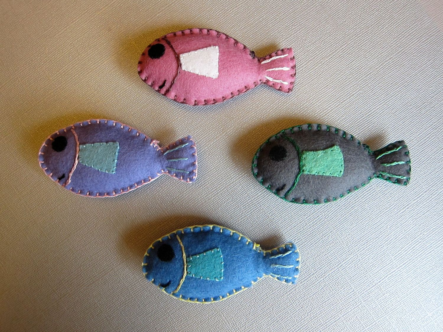 Catnip cat toys felt fish all details hand stitched for Little fish toys