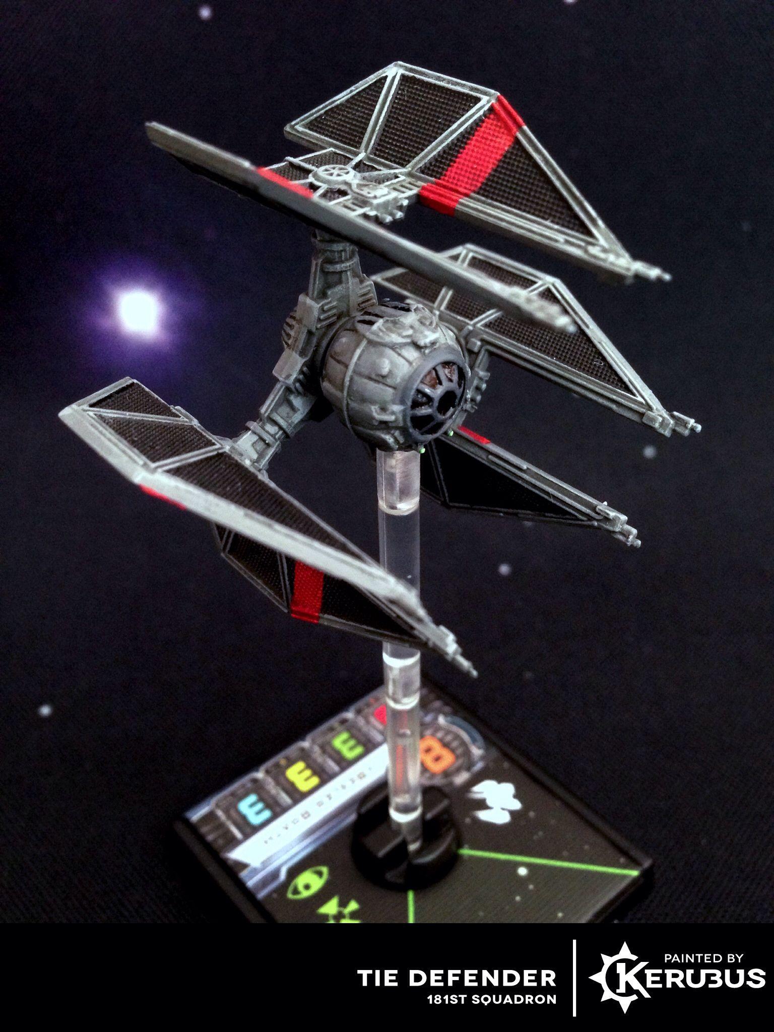 Tie Defender 181st Squadron Star Wars Games Star Wars Ships Design X Wing Miniatures