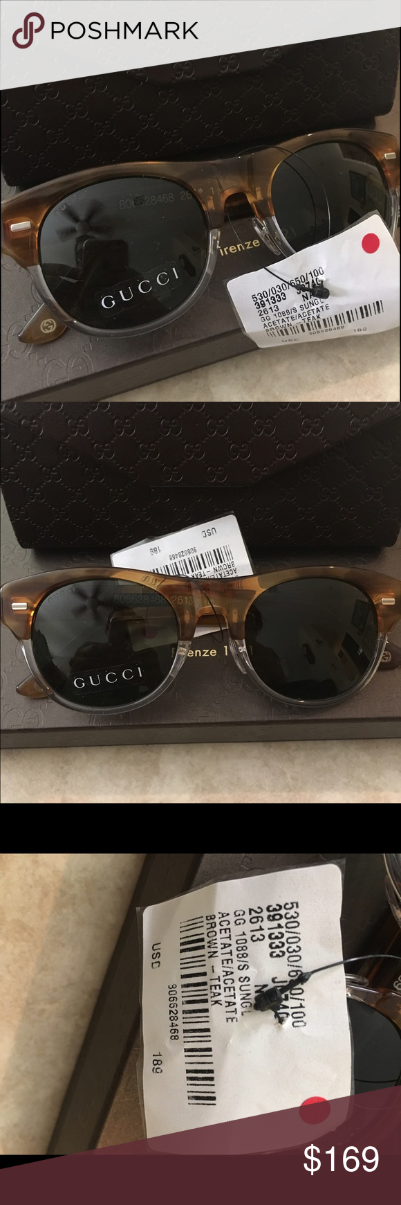 dcd9b02f957a1 Authentic Gucci women s sunglasses w  case Authentic women s Gucci  sunglasses with case. Beautiful sunglasses perfect in time for spring and  summer!