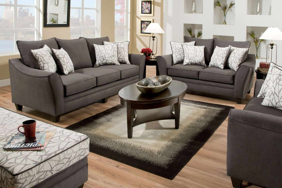 Living Room Design With Grey Sofa Cool 19359 Living Room  Living Rooms And Room Review