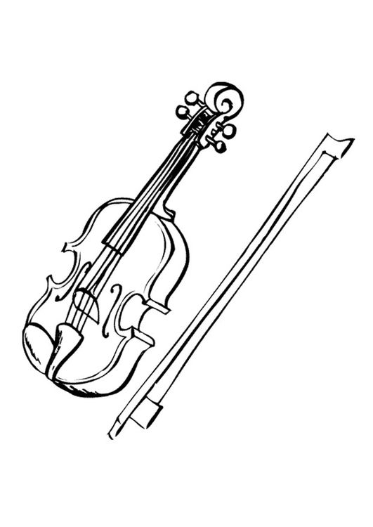 Coloring Page Violin Img 9594 Coloring Pages Violin Learn Violin