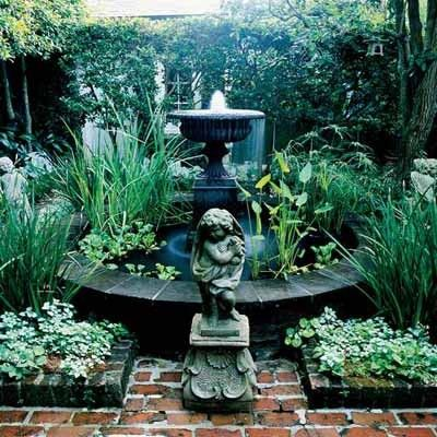 New Orleans Secret Garden Fountains Courtyard Garden Courtyard