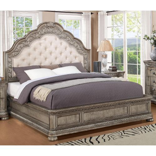 Best Antique Metallic Traditional Cal King Bed San Cristobal 640 x 480