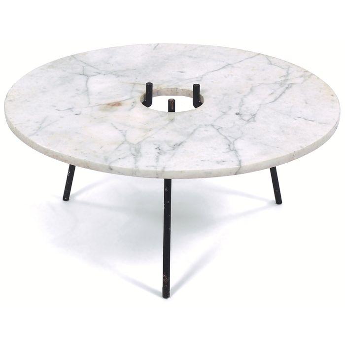 Habitat Storage Coffee Table: Paul Mayen, Marble Coffee Table For Habitat, C1952
