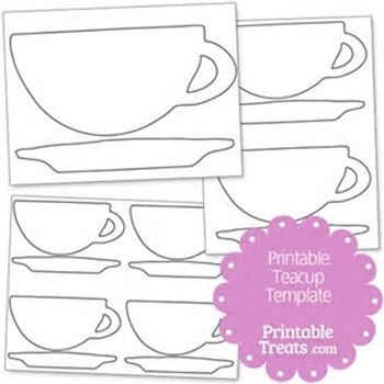 Image result for Free Printable Tea Cup Template Appliqué Patterns