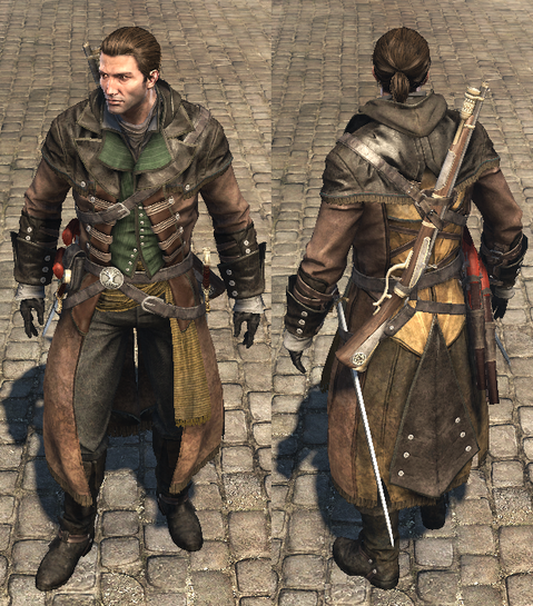 479px Acrg Tracker Outfit Png 479 545 Assassins Creed Rogue Assassins Creed Assassin S Creed