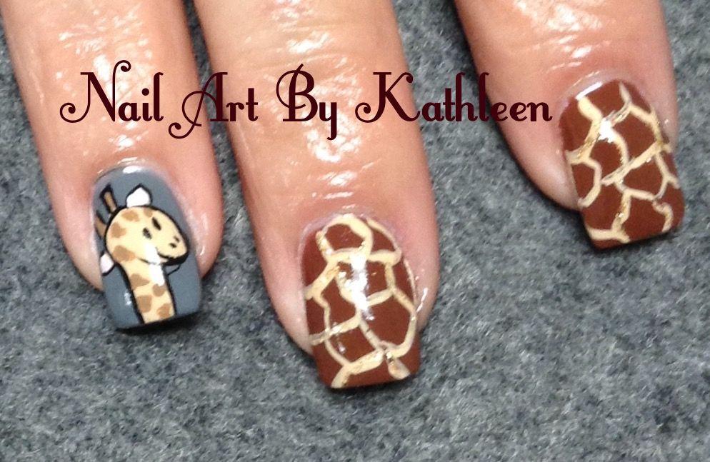 Giraffe Nail Art Nail Art Pinterest Giraffe Nails Mani Pedi