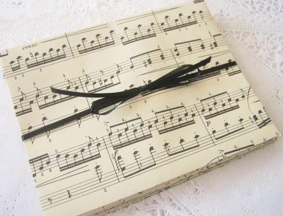 Vintage Sheet Music Envelopes Set Of 10 Weddings Invites Thank You Recycled Stationery