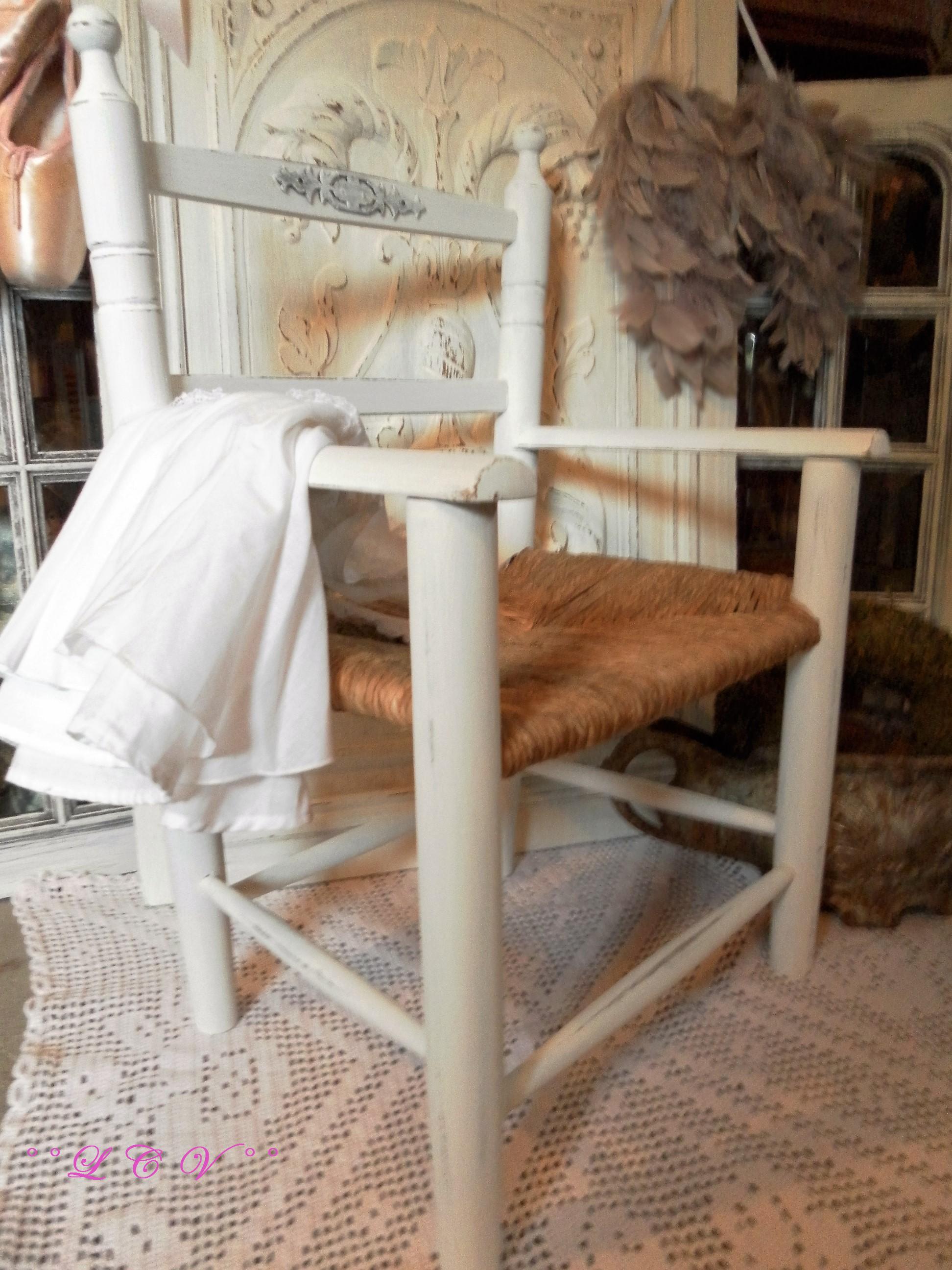 °°Shabby chaise enfant LCV brocante, 62136°°