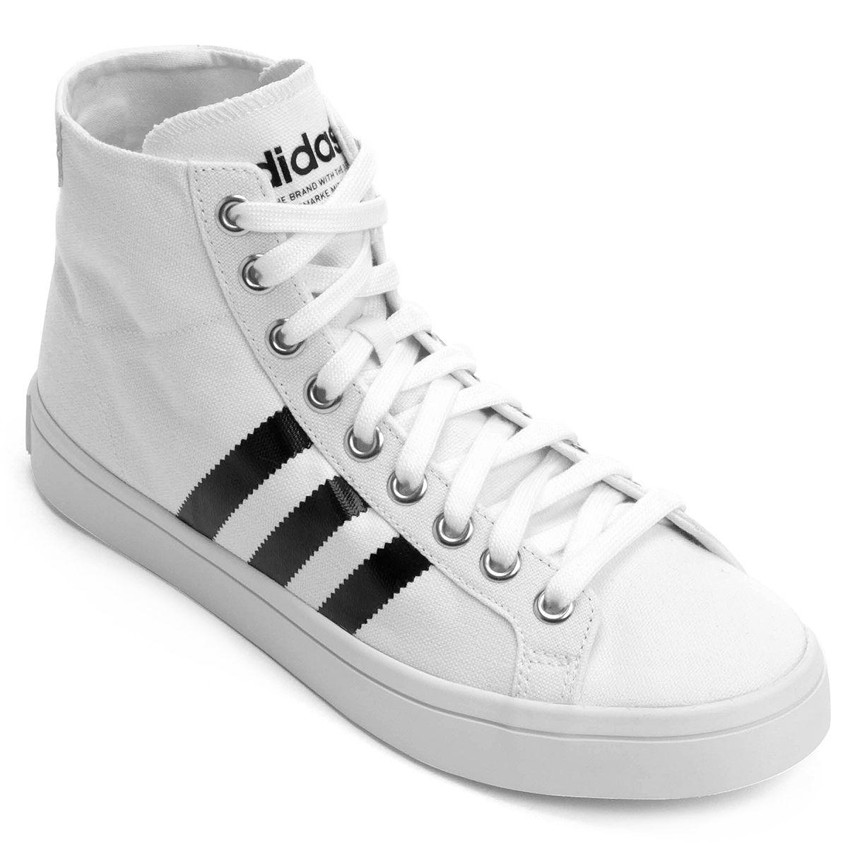 9c30ee6bf11 Tênis Adidas Courtvantage Mid - Branco e Preto