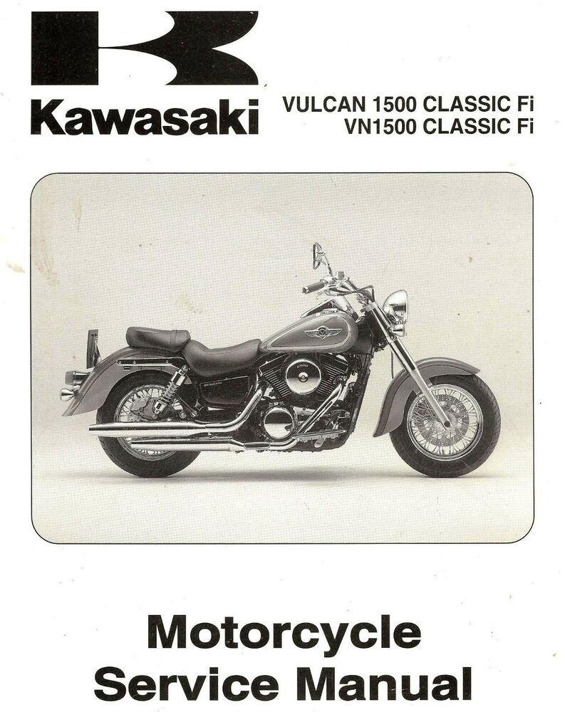 2000 kawasaki vn1500 vulcan 1500 classic fi motorcycle service manual  -vn1500n1 truck parts, manual