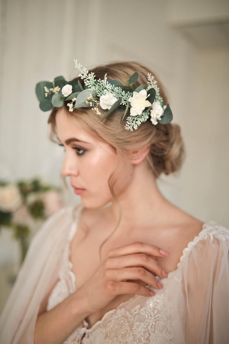 Preserved flowers crown Charlotte for your wedding bridal hairstyle