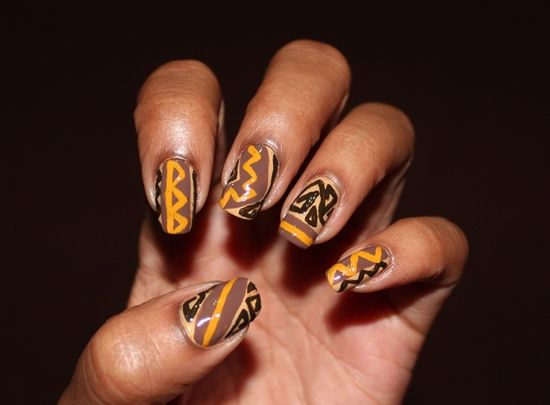 Lovely earth tones african touch nails pinterest kwanzaa manicure prinsesfo Images
