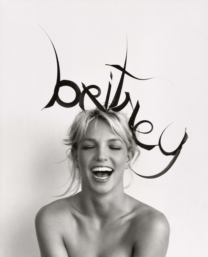 Britney Spears in a Philip Treacy hat shot by Herb Ritts for US VOGUE November 2001 | Fashion Editor Tonne Goodman.