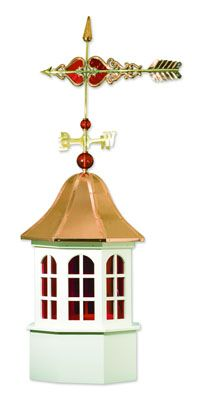 Stained Glass Windows Cupola - Red