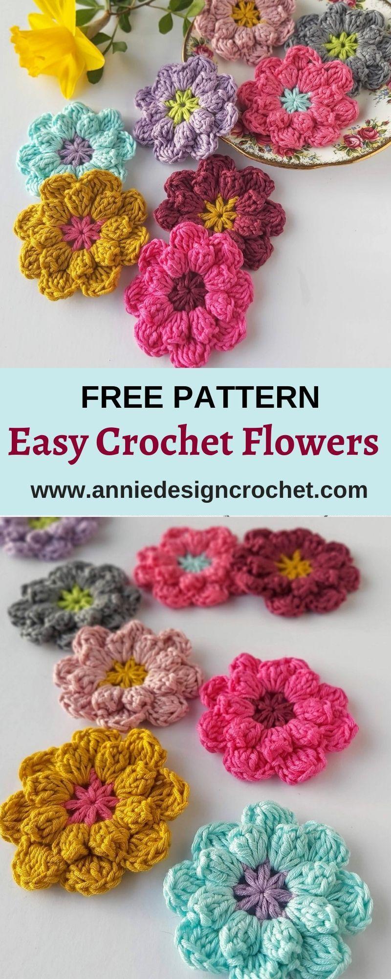 Photo of How to make Easy Crochet Flowers – Annie Design Crochet