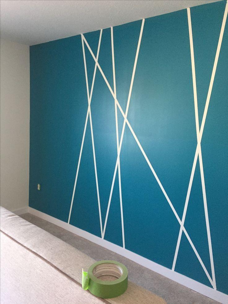 DiY Akzentwand mit Malerband. Einfache und kostengünstige Möglichkeit für jeden Raum! #wallpaintingideas