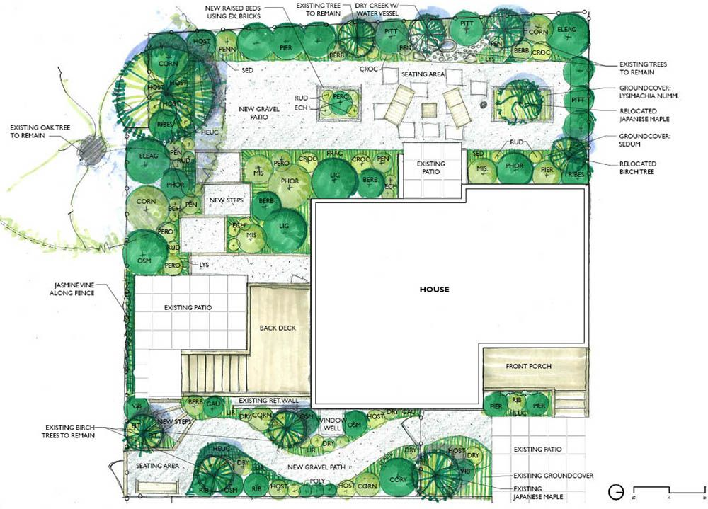Simple landscape design plans 0 full design erin lau for Small garden layout