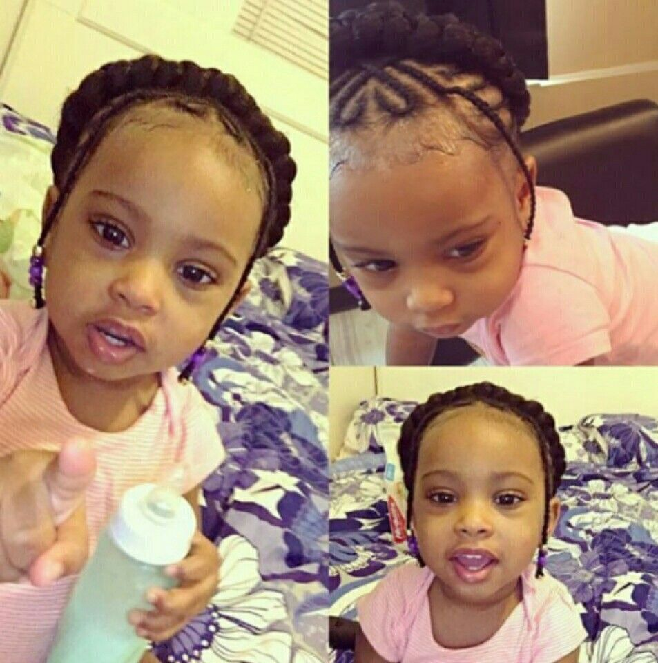 Little girl halo braid Baby braided updo African American babies ...
