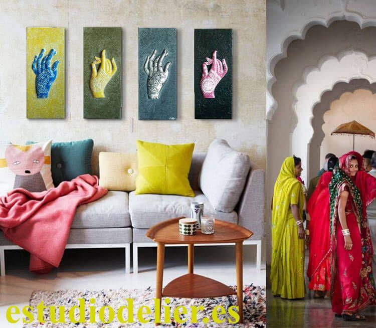 Estudio delier cuadros modernos hennas mas info en for Cuadros modernos plateados