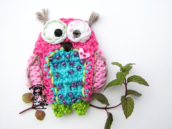 GERMANY version of Crochet owl applique pattern, DIY | Pinterest ...
