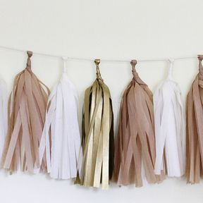 DIY Tissue Garland Kit: Golden