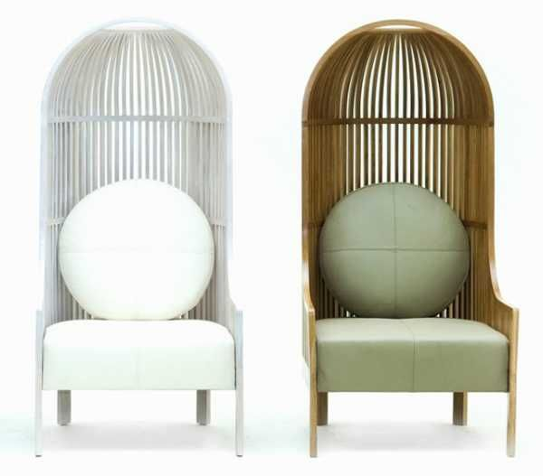 High Back Chair Design Offering Bird Cage Like Furniture For Exotic Home  Decorating