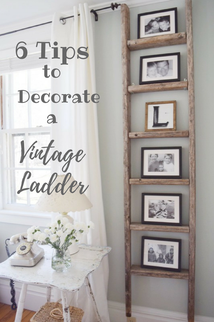 Decorating with a vintage ladder home projects pinterest