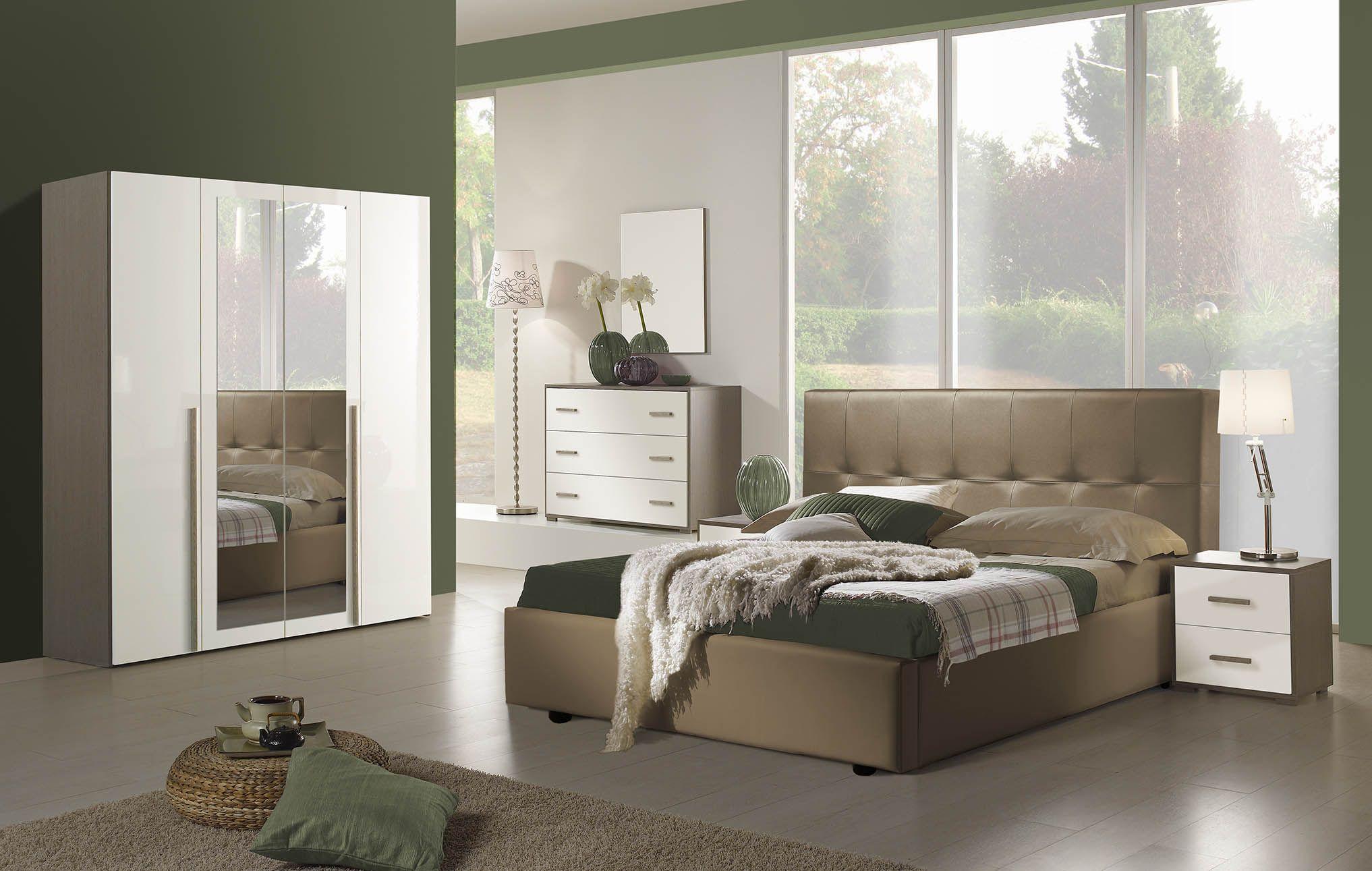 Chambre Comprenant Armoire 4 Portes Lit 160x200 2 Chevets Commode Miroir Livraison Gratuite Dans Paris Et Regio Decoration Maison Lit 160x200 Chambre
