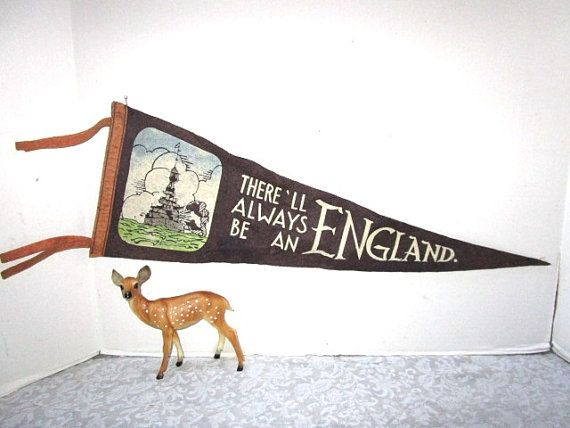 Vintage Pennant WWII There Will Always Be An by JunqueGypsy