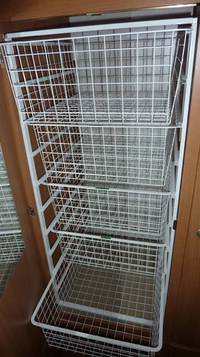 Jayco Camper Trailer >> A great storage solution from Luis. He has installed wire drawer baskets in his Jayco Expanda ...