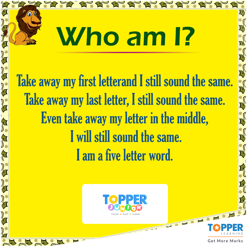 Who Am I? Riddles TopperJunior Education WhoAmI