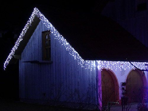 600 led premium ges 22 meter eisregen weihnacht lichterkette kaltweiss schnee eiszapfen effekt. Black Bedroom Furniture Sets. Home Design Ideas
