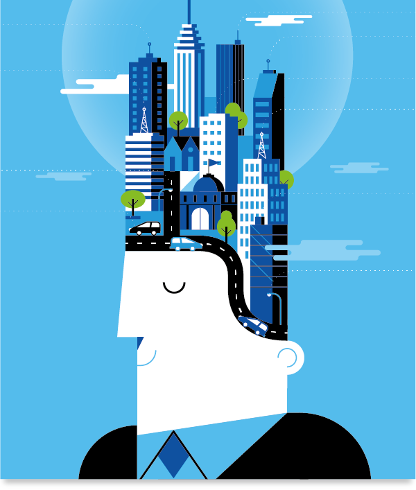 BBVA Corporative Illustration by Mauco Sosa, via Behance