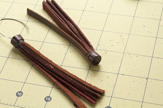 Leather Tassel Earrings Tutorial