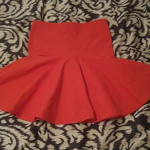 Cute orange skirt Flare orange skirt French Connection Skirts Circle & Skater