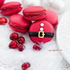 Macarons di Babbo Natale #christmas #recipe #Idea #tips #noel #xmas