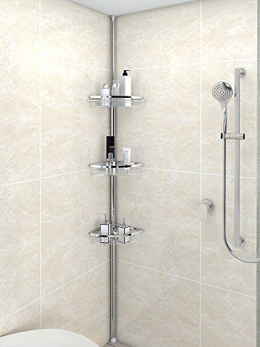 Lifewit Corner Shower Caddy 3 Tier Adjustable Bathroom Co... https ...