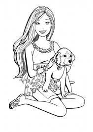 Картинки по запросу раскраски барби с животными   Barbie ...