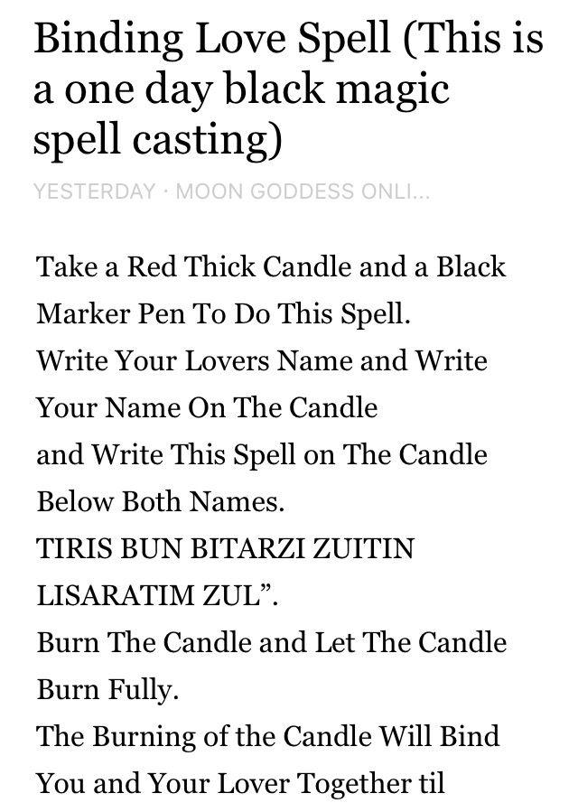 Simple love binding spells