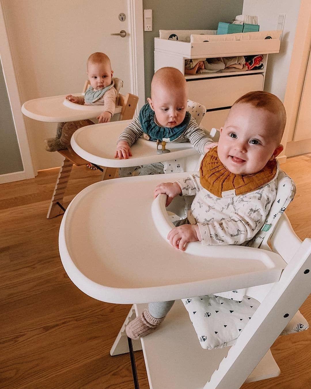 Trois Chaises Tripp Trapp Pour Trois Petits Bouts De Chou Triplets Of Copenhagen Tronas Bebe Trona Bebe