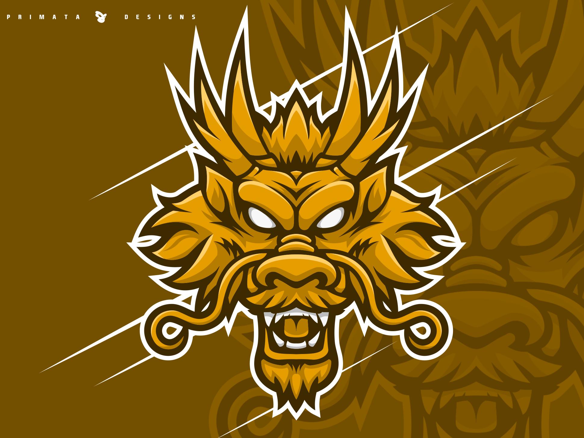 Ryujin Dragon in 2020 Game logo design, Illustration