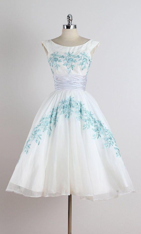 Addison . Vintage 1950s Dress . 50s Party Dress . 5233 | Pastel Purple 1950s Dresses And White ...