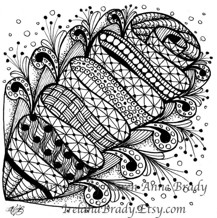 Zentangle patterns zentangle zentangles patterns for Zentangle tile template