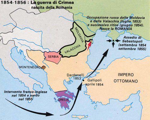 Cartina Europa Crimea.Pin Su La Nascita Del Regno D Italia E L Unificazione Tedesca